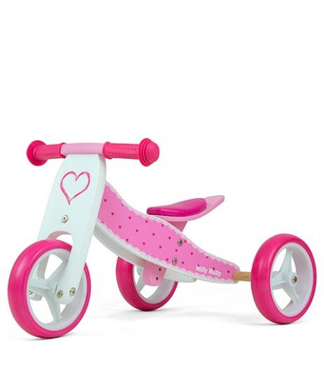 Milly Mally 2-in-1 Loopfiets Jake Hartjes Meisjes Roze online kopen