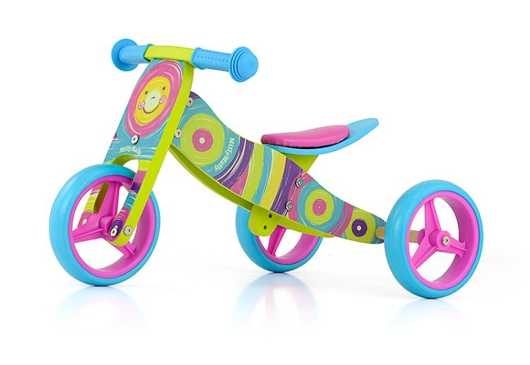 Milly Mally 2 in 1 loopfiets Jake Regenboog Junior Multicolor