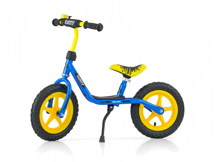 Milly Mally loopfiets Dusty 12 Inch Junior Blauw/Geel