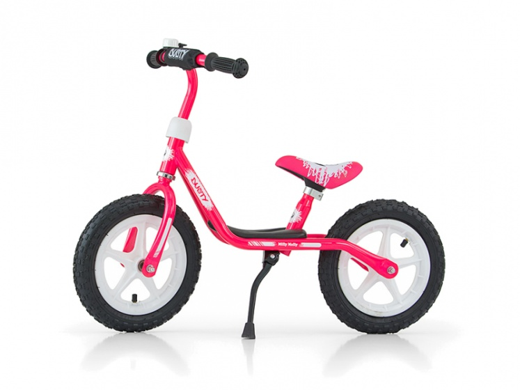 Milly Mally loopfiets Dusty 12 Inch Junior Roze/Wit