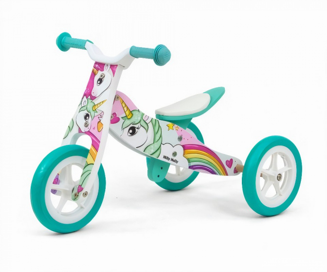 Milly Mally loopfiets Junior Wit/Turquoise