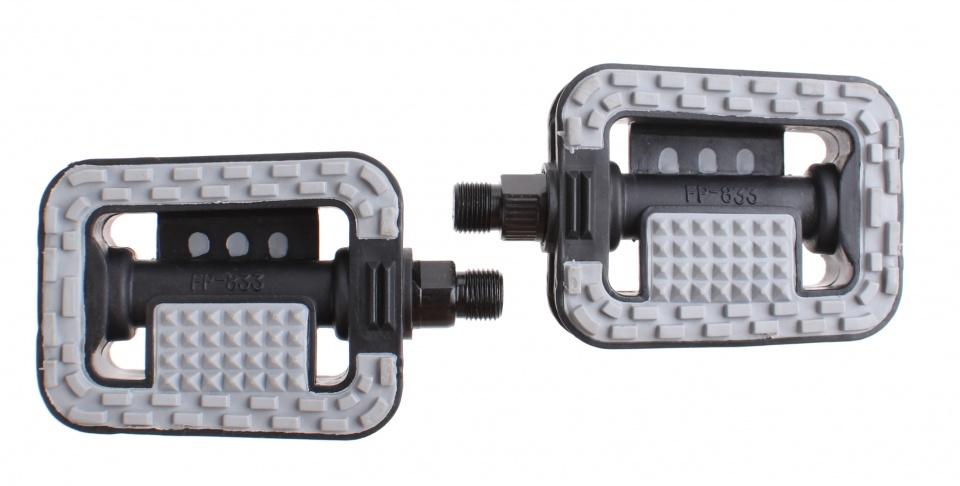 Mirage tour platformpedalen antislip zwart-grijs 9-16 inch