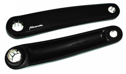 Miranda set cranks E bike aluminium 170 mm zwart
