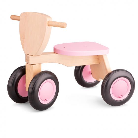 New Classic Toys Loopfiets Road Star 4 Wielen 50 Cm Hout Roze online kopen