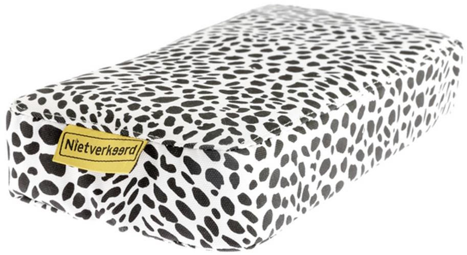 Niet Verkeerd bagagedragerkussen Animal Dots wit/zwart 32 cm