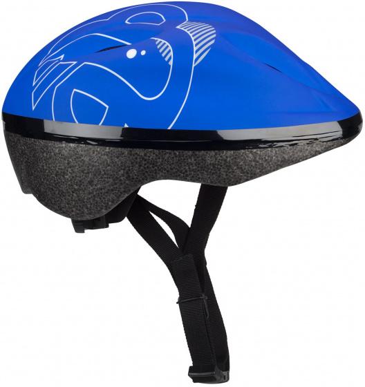 Nijdam helm Sky Base junior EPS/Pet zwart/blauw mt 52 56 cm