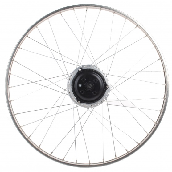 Nuvinci achterwiel 26 inch Nuvinci staal 36G zilver