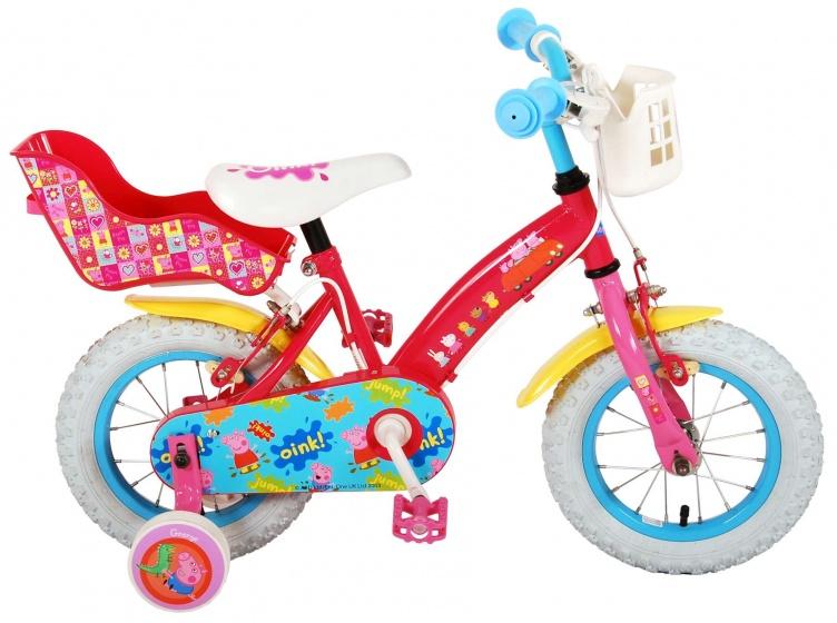 Volare Peppa Pig Kinderfiets Meisjes 12 inch Roze 2 Handremmen online kopen