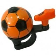 Pexkids fietsbel voetbal 38 mm oranje