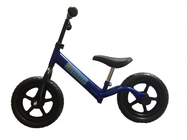 Pexkids Kinder Scooter Loopfiets 12 Inch Jongens Blauw