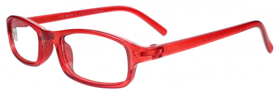 reading glasses rectangular red unisex,00