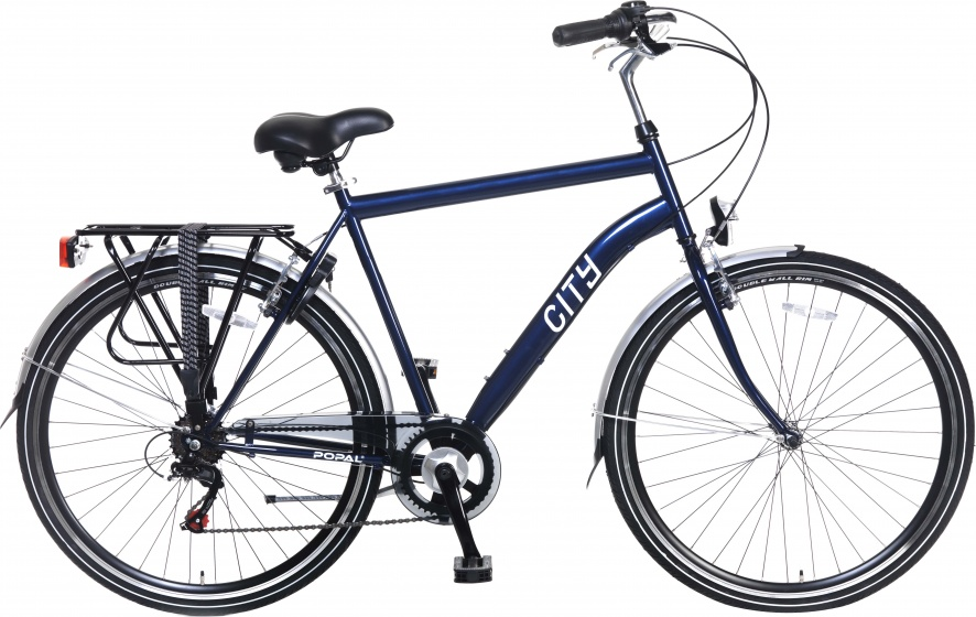 Popal City 6 Speed 28 Inch 49 cm Heren 6V V Brake Blauw