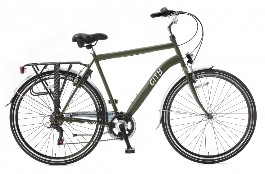 Popal City 6 Speed 28 Inch 49 cm Heren 6V V Brake Legergroen