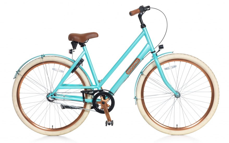 Popal Montebella N3 28 Inch 53 cm Dames 3V Terugtraprem Lichtblauw