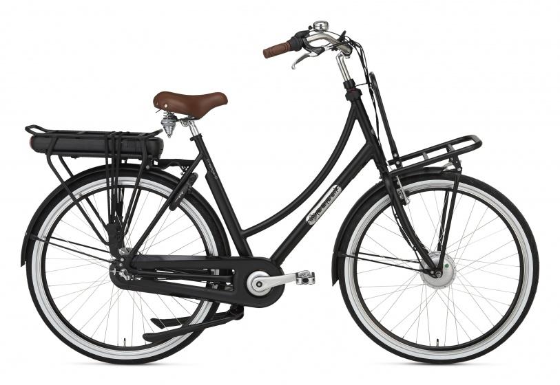 Popal Prestige E 28 Inch 57 cm Dames 3V Rollerbrake Matzwart