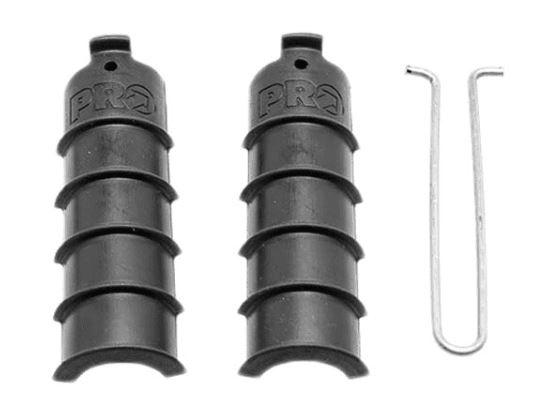 Pro batterijhouder Di2 stuurbuis 28,6 cm rubber/staal zwart
