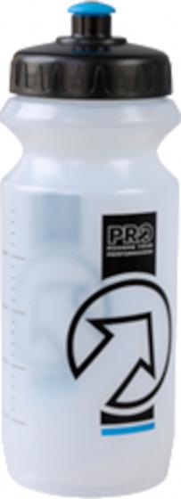 Pro sportbidon 800 ml polyetheen transparant/zwart
