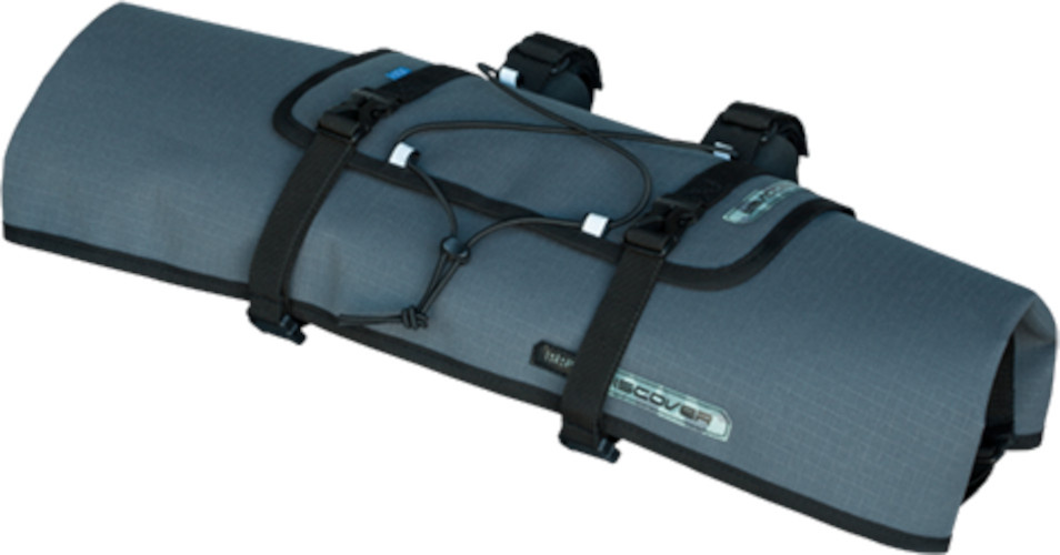 Pro stuurtas Discover 8 liter polyester/nylon grijs/zwart