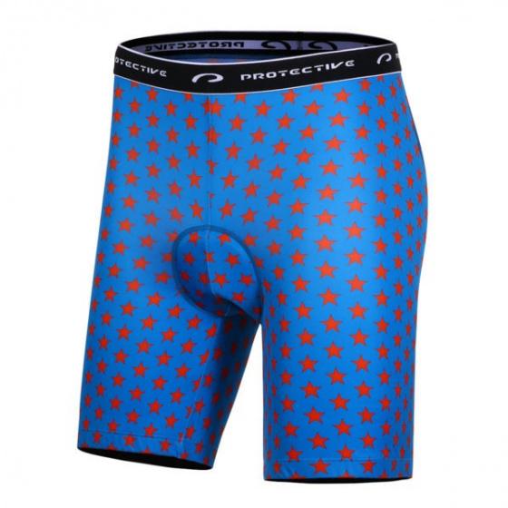 Protective fietsbroek P Meteor heren polyester blauw maat M
