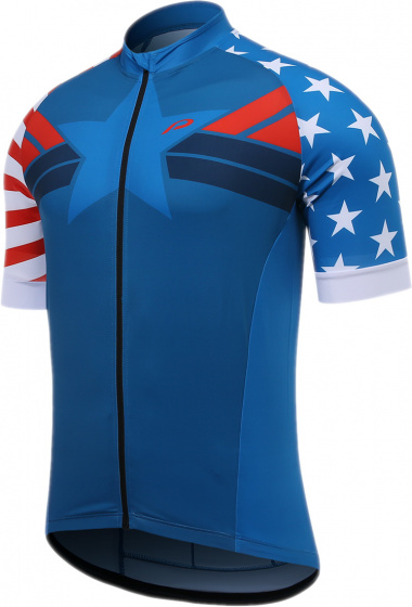 Protective fietsshirt P Meteor heren polyester blauw/wit/rood mt 5XL