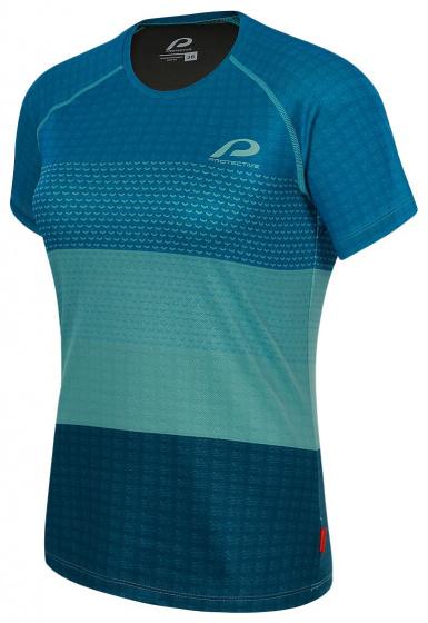 Protective fietsshirt P Shade dames polyester blauw maat 38