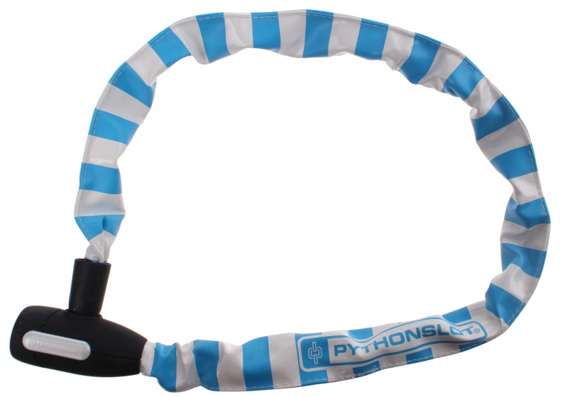 Pythonslot kettingslot 90 cm wit/blauw