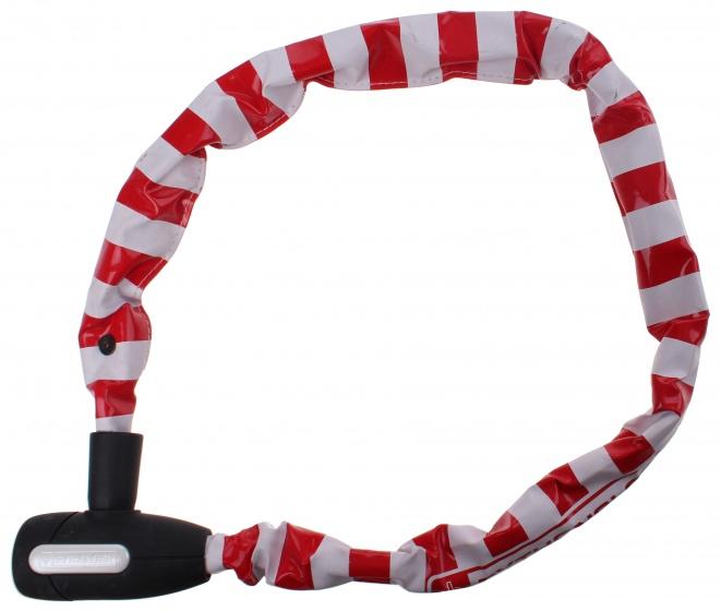 Pythonslot kettingslot 90 cm wit/rood