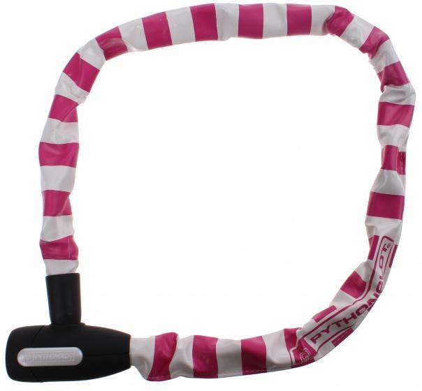 Pythonslot kettingslot 90 cm wit/roze