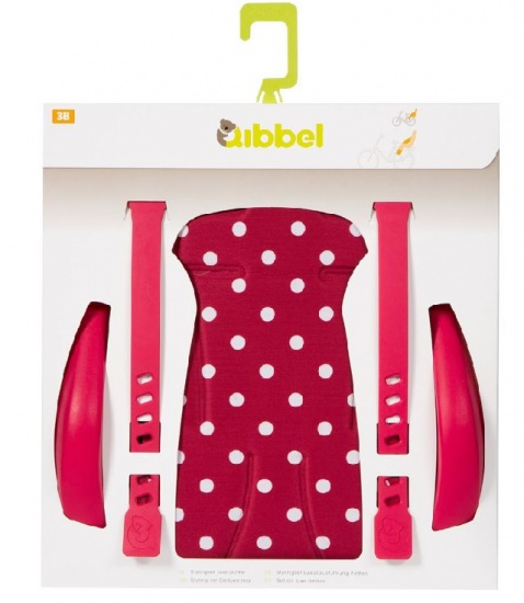 Qibbel Luxe Stylingset Fietszitje Achter Polka DOT Rood