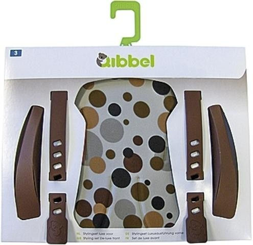 Qibbel Stylingset Luxe Fietszitje Achter Dots Brown