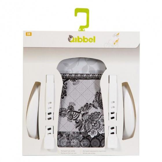 Qibbel stylingset voor Qibbel fietszitje achter Suzy zwart/wit Q311