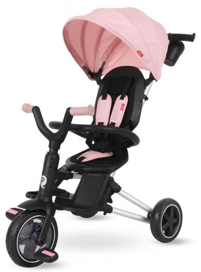 QPlay driewieler Nova 4 in 1 Meisjes Zwart/Roze