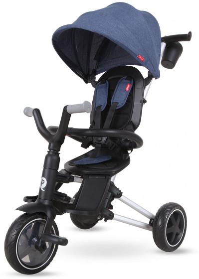 QPlay driewieler Nova 4 in 1 Jongens Zwart/Blauw