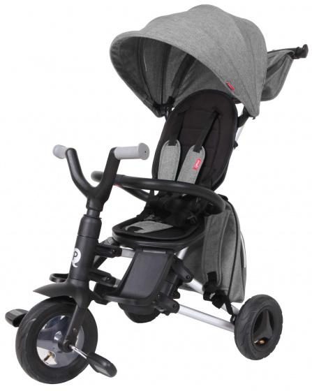 QPlay driewieler Nova 4 in 1 Junior Zwart/Grijs