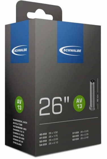 Binnenband 26X150-250 Schwalbe Auto Ventiel (40) Av13