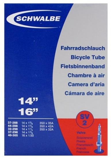 Schwalbe Binnenband SV2 14 x 1 1/4 - 16 x 1.50 (37 288/40 305) FV