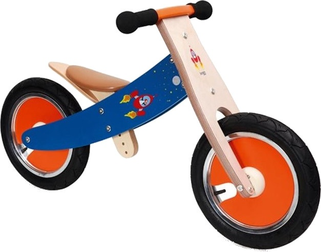 Scratch Balance Bike 12 Inch Junior Rood-Blauw