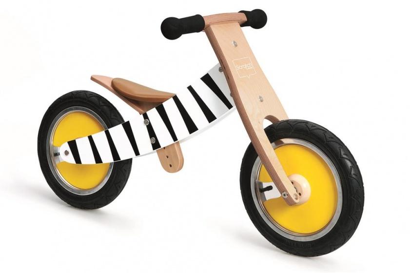 Scratch Move It loopfiets Junior Blank-Zwart
