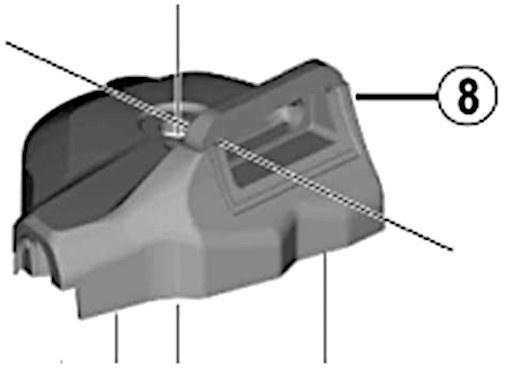 Shimano afdekkap Deore XT SL M8000 I rechts zwart 2 delig S