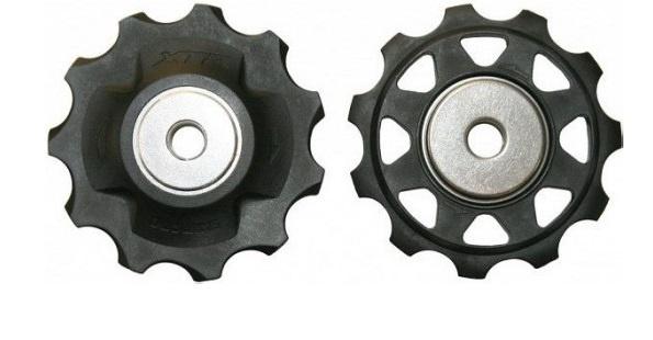 Shimano derailleurwielset XTR RD M980 staal 10S zwart 2 stuks