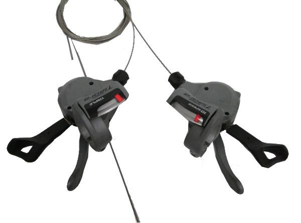 Shimano Shifterset Links en Rechts Tiagra 3 X 10 SP Grijs