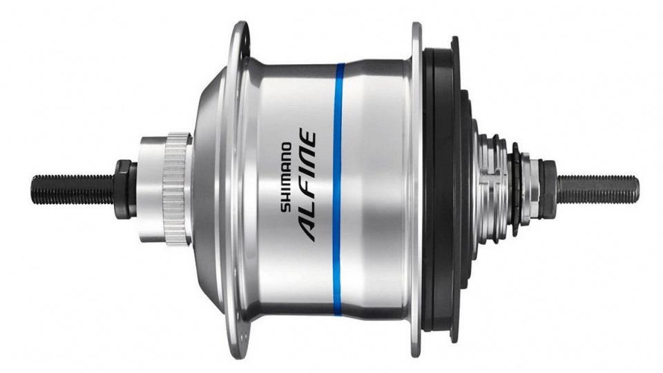 Shimano versnellingsnaaf Alfine SG S7051 11V 16G 187-135 zilver