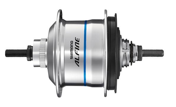 Shimano versnellingsnaaf Alfine SG S7051 8S CL 36G zilver