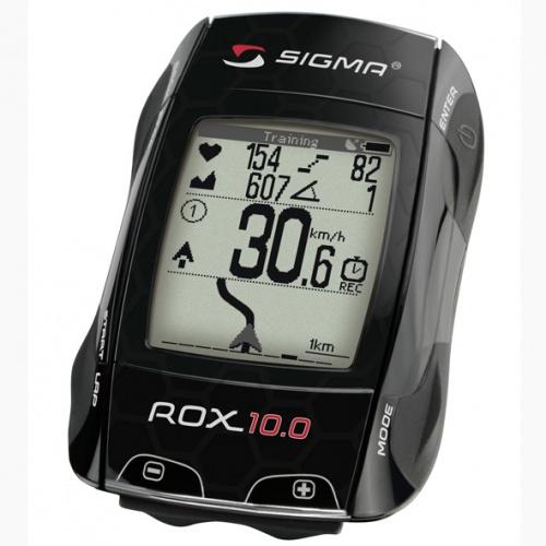 Sigma fietscomputer Rox 10.0 GPS set zwart