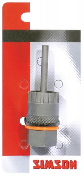 Simson cassette borgringafnemer met pen 12,3 cm staal grijs