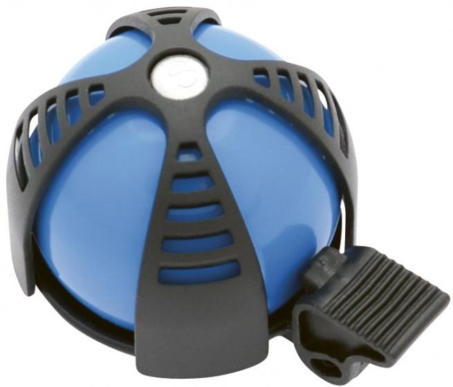Simson fietsbel Joy 8,5 x 10,8 cm aluminium blauw/zwart