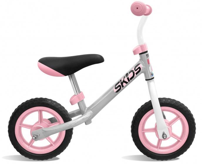 Skids Control loopfiets 10 Inch Junior Grijs/Roze