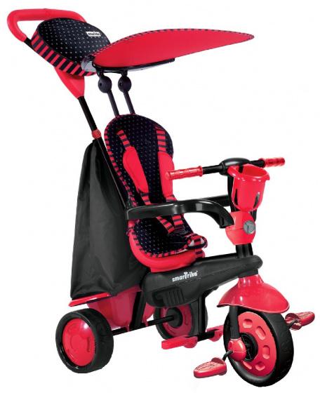 smarTrike 4 in 1 driewieler Spark Red Junior Rood/Zwart