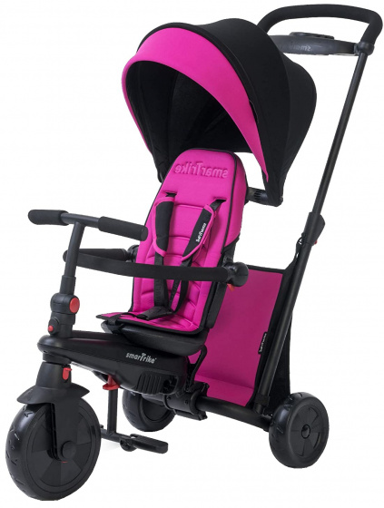 smarTrike 7 in 1 driewieler smarTfold 500 Meisjes Zwart/Roze