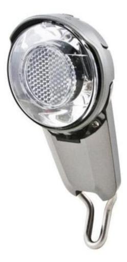 Spanninga Koplamp Corona XDO naafdynamo LED zilver